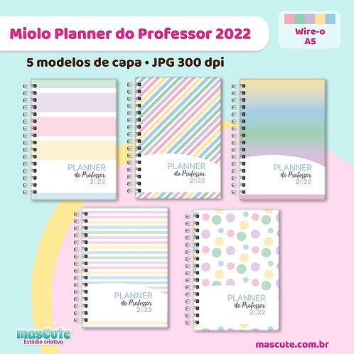 Miolo para Planner do Professor 2022 | Wire-o | Datado | A5