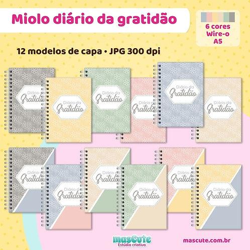 Miolo para caderno diário da gratidão  1 dia por página   Wire-o    A5