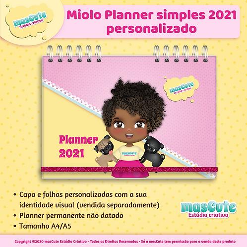 Arte miolo planner simples personalizado 2021