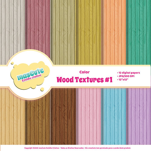 Papel digital textura de madeira 1