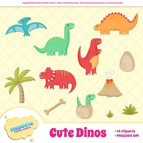 Kit digital cliparts - Cute Dinos