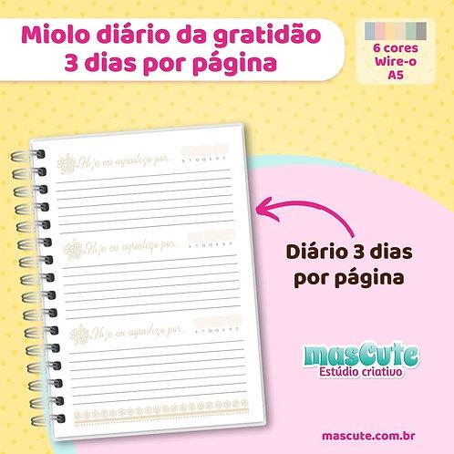 Miolo para caderno diário da gratidão   3 dias por página   Wir