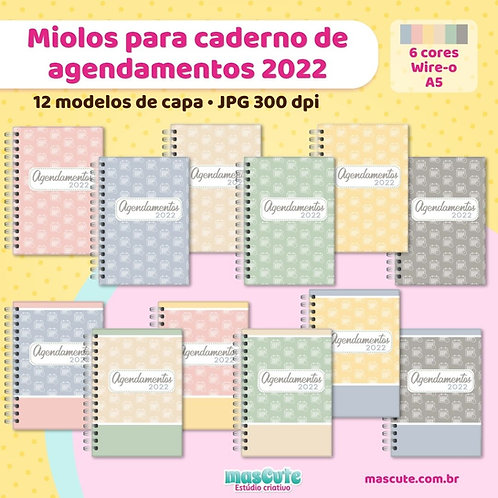 Miolo para caderno de agendamentos | Área da saúde | Datado | A5