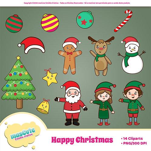 Kit digital cliparts - Natal Feliz