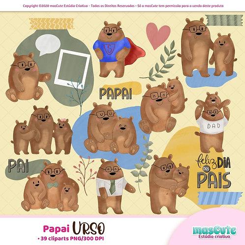 Papai Urso  - Kit Digital Clipart
