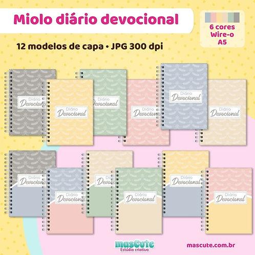 Miolo para caderno diário devocional | Wire-o  | A5
