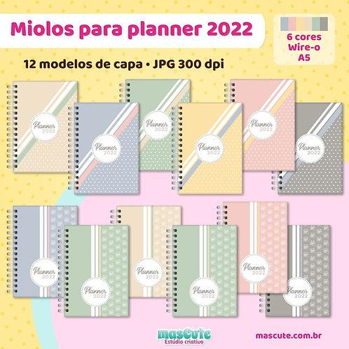 Miolo para Planner 2022 | Wire-o | Datado | A5