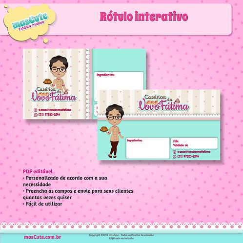 Rótulo interativo