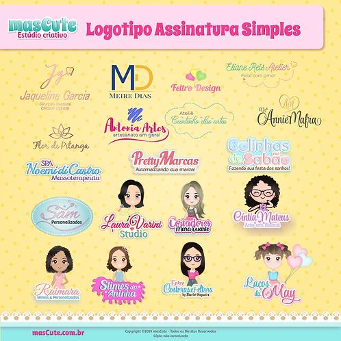 Logotipo assinatura simples