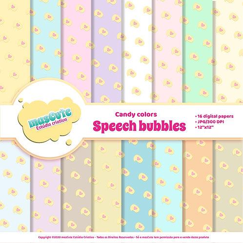 Papel digital speech bubble candy color