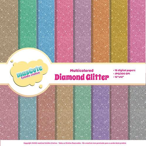 Papel digital Glitter diamante