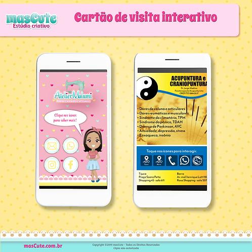 Cartão de visita virtual interativo
