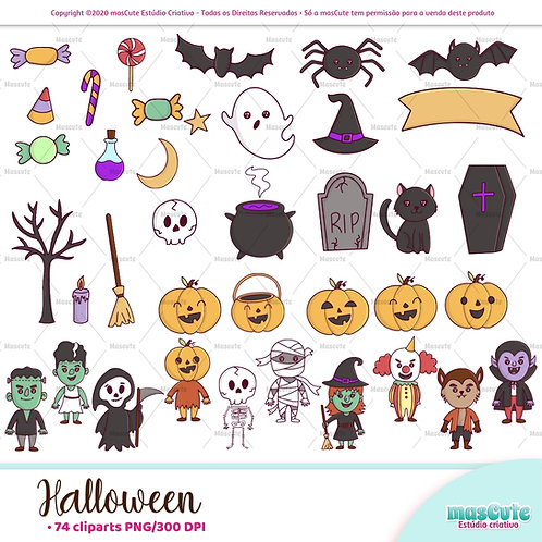 Halloween  - Kit Digital Clipart