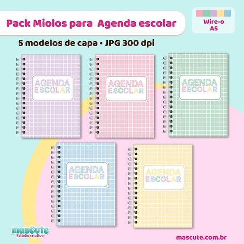 Pack Miolos para agenda escolar 2022   Permanente não datada  A5