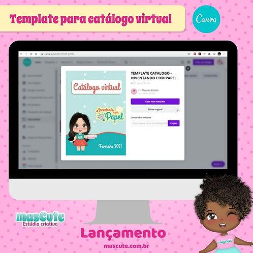 Template do canva para catalogo virtual personalizado
