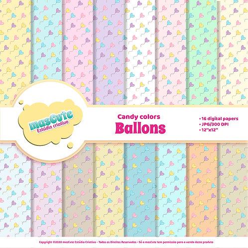 Papel digital ballons candy color