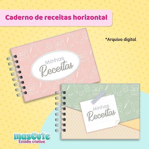 Miolo para caderno de receitas - A4/A5 Horizontal
