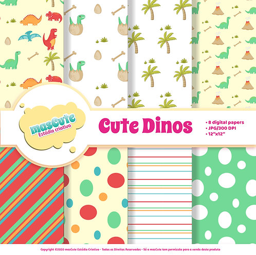 Papel digital Cute Dinos