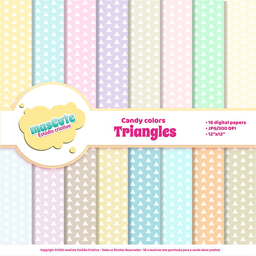 Papel digital triangles candy color