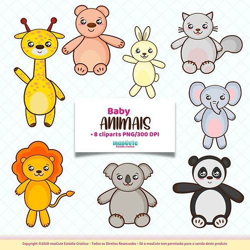 Baby animais - Kit Digital Clipart