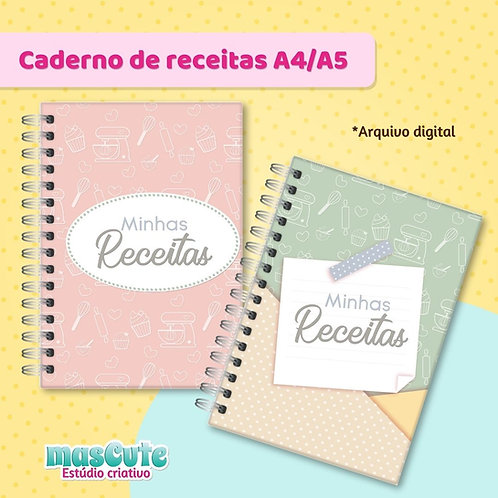 Miolo para caderno de receitas - A4/A5