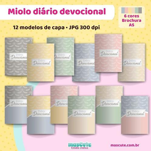 Miolo para caderno diário devocional | Costura/Brochura | A5