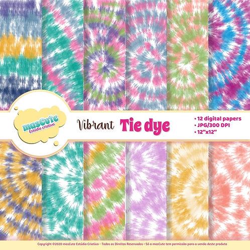 Papel digital Tie Dye cores vibrantes