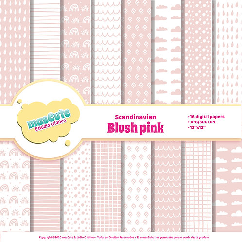 Papel digital Escandinavo rosa blush