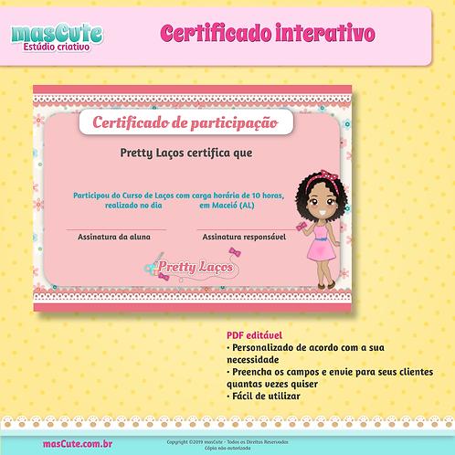 Certificado interativo