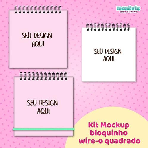 Kit Mockup bloquinho wire-o quadrado