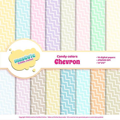 Papel digital chevron candy color