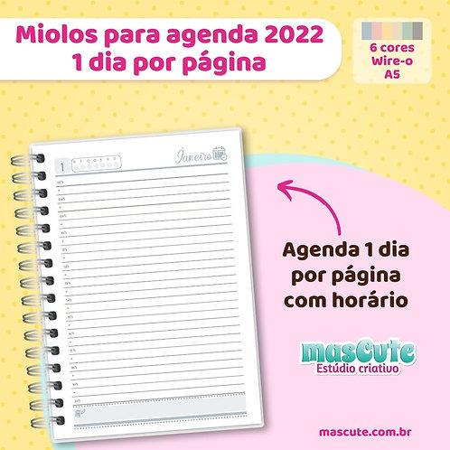Miolo para agenda 2022 | 1 dia por página |Permanente| A5