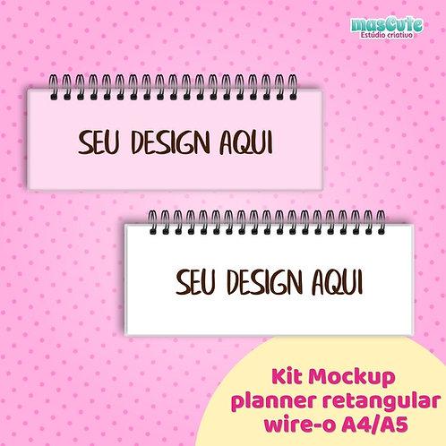 Kit Mockup planner/caderno wire-o retangular