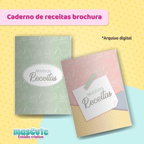 Miolo para caderno de receitas - Brochura