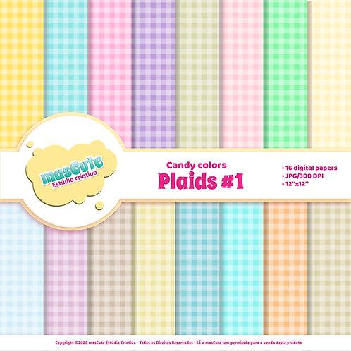 Papel digital xadrez vichy candy color