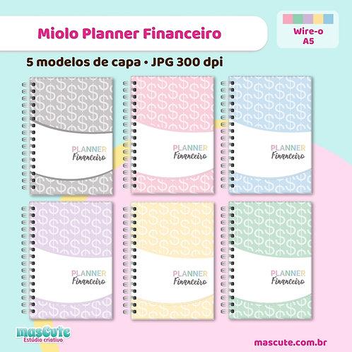 Miolo para Planner Financeiro Color | Wire-o | Permanente não datado|
