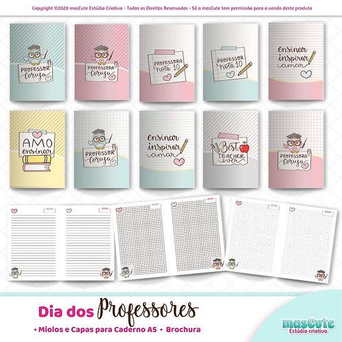 Miolo para caderno dia dos professores  | A5 | Brochura