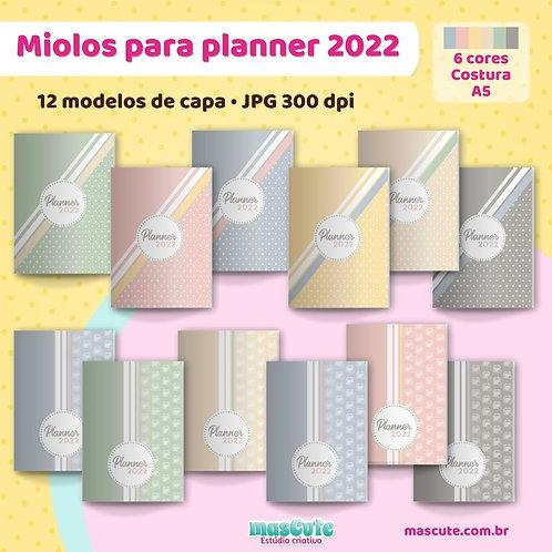 Miolo para Planner 2022 | Costura | Datado | A5