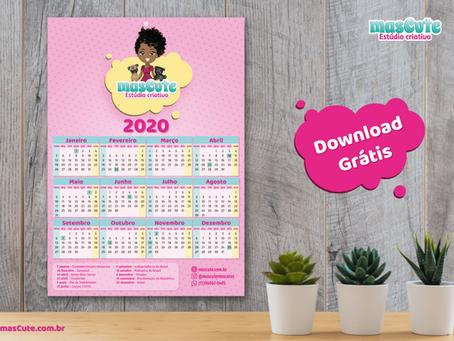 Calendário 2020 – para Download grátis