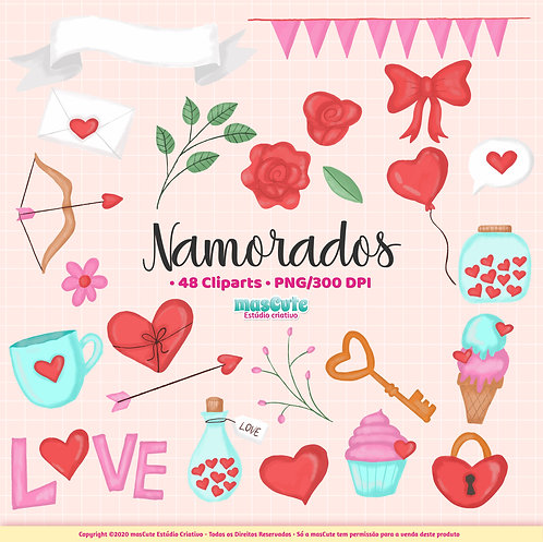 Namorados - Kit Digital Cliparts