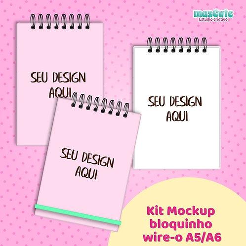 Kit Mockup bloquinho wire-o A4/A5/A6