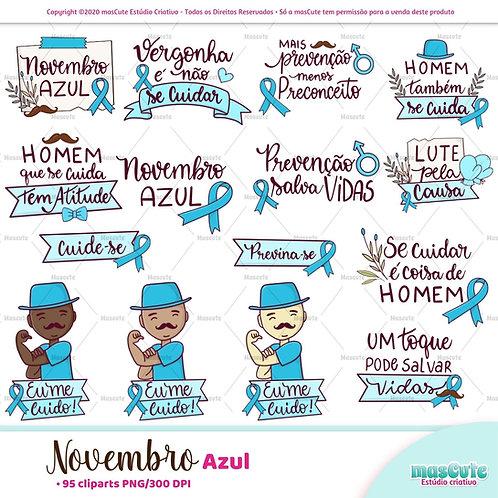 Novembro Azul - Kit Digital Clipart