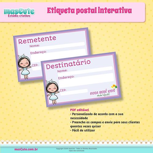 Etiqueta Postal interativa