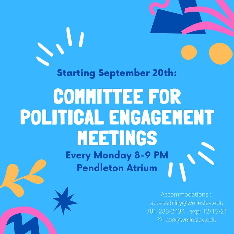 CPE Committee Meetings