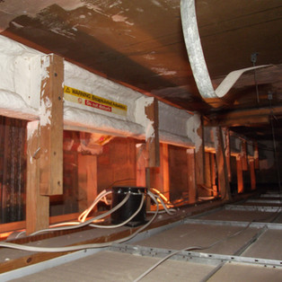 Asbestos sprayed coating