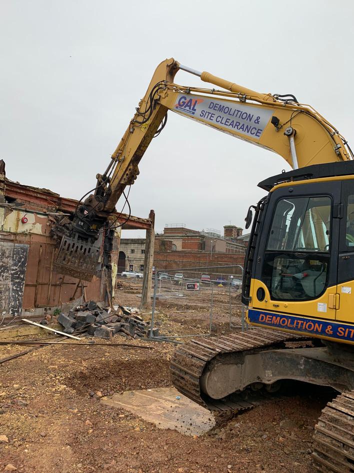 Demolition of a fomer MOD site