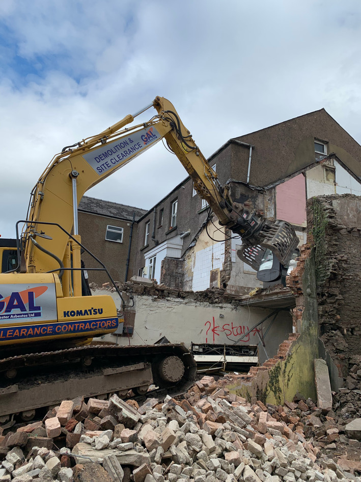 Demolition of a domestic property