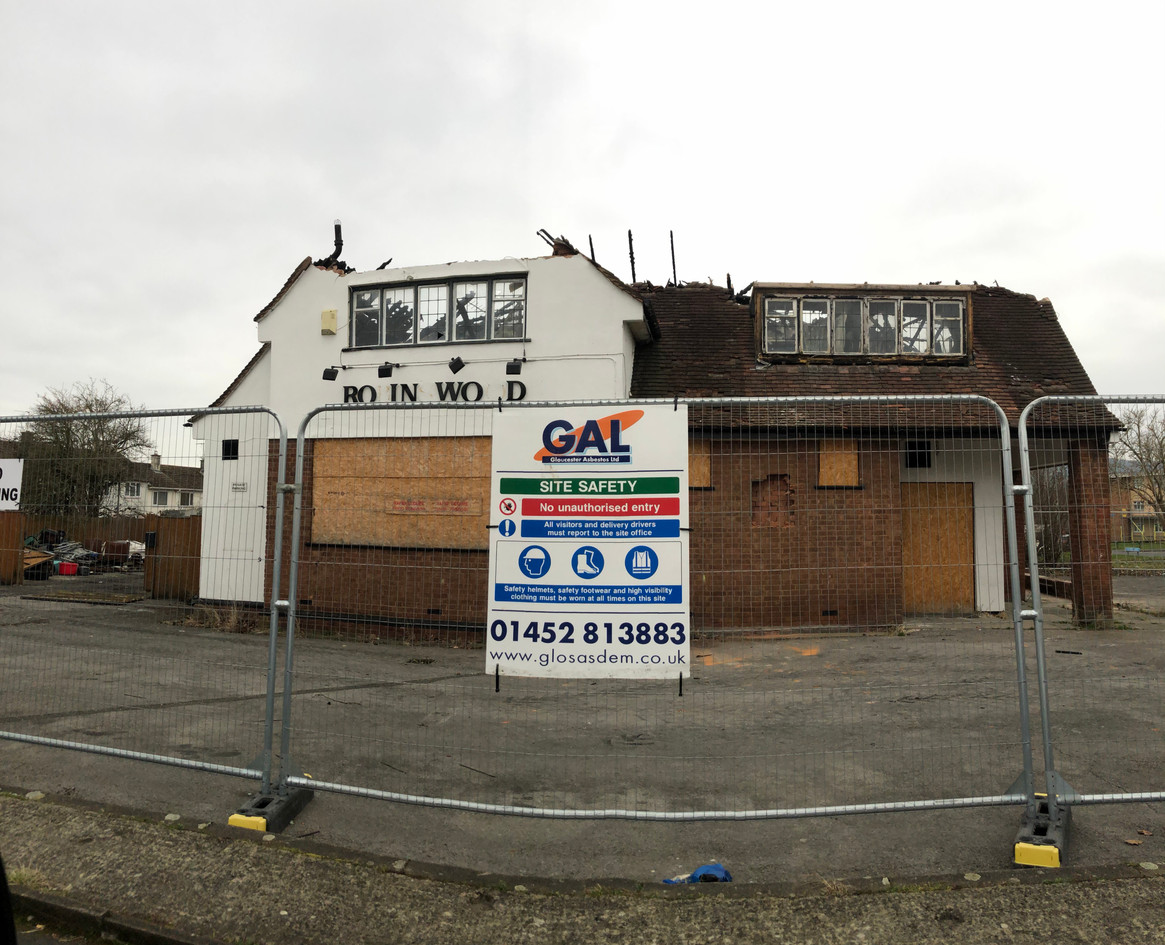Demolition of pub