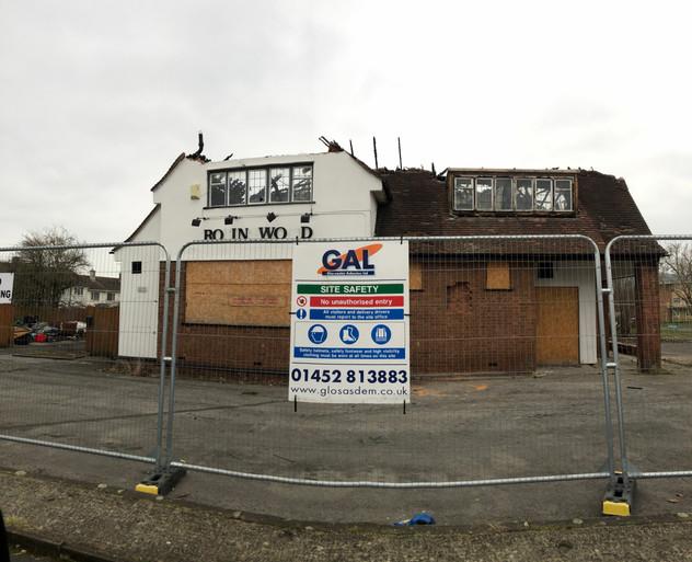 Demolition of pub