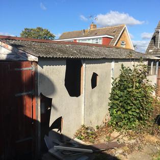 Asbestos garage cladding & roof